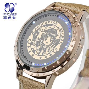 Anime peripheral led touch screen waterproof watch