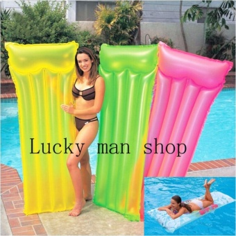 As Seen On TV Malaysia King's Inflatable Kool Lounge Swimming PoolFloat Bed yellow