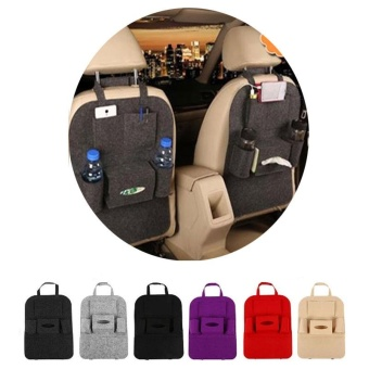 Auto Car Back Seat Storage Bag Car Seat Cover Organizer Holder Bottle Tissue Box Magazine Cup Food Phone Bag Backseat Organizer - intl
