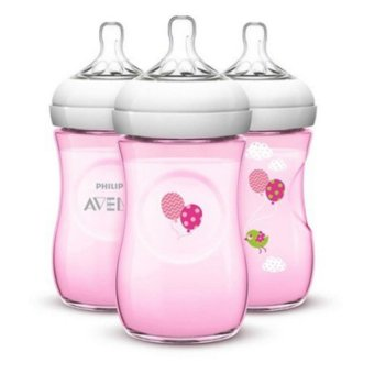 Avent Natural 9 Ounce 3 pack bottles - balloons