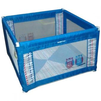 Baby 1st Square Foldable Playpen P-521D BLUE B