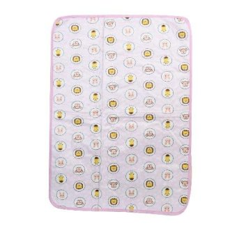 Baby Bed Mattress Waterproof Baby Nappy Change Sheet Protector(animals pink)