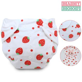 Baby Boom Washable Cloth Diaper- Strawberry