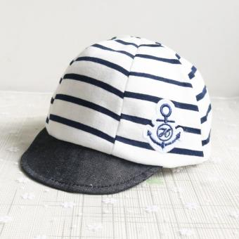 Baby Boys Girls Striped Anchor Lucky Hat Infant Newborn Kids Cap - intl