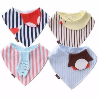 Baby Feeding Washable Bib set of 4