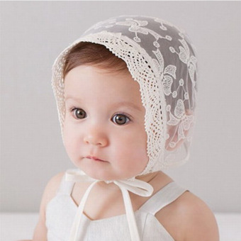 Baby Girls Princess Hats Bonnet Retro Cap Cotton Palace Hat CuteSun Hats Little girls Lace cap (Intl) Price Philippines