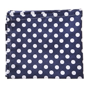 Baby Mum Breastfeeding Nursing Poncho Cover Up Cotton(Dark BlueDots)