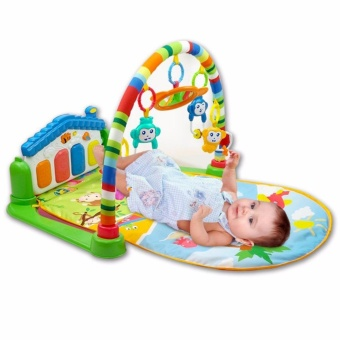 Baby Play Gym Multifunction Piano Fitness Rack 3 In 1 Music Infant Activity Play Mat with FREE Nail Art Stamping Kit