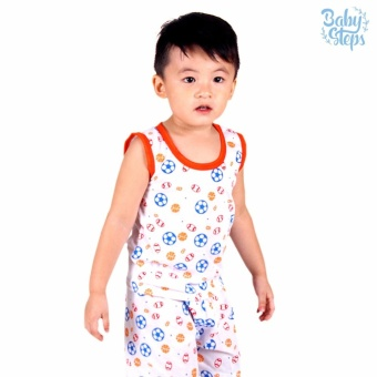 Baby Steps Basic Wear Balls Baby Boy Terno Clothing Sets (Orange) Price in Philippines