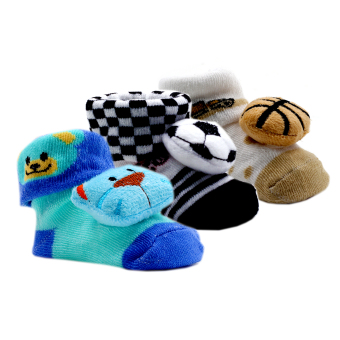 Baby Steps Newborn Baby Boy Socks Set of 3 (Multicolor) Color MayVary