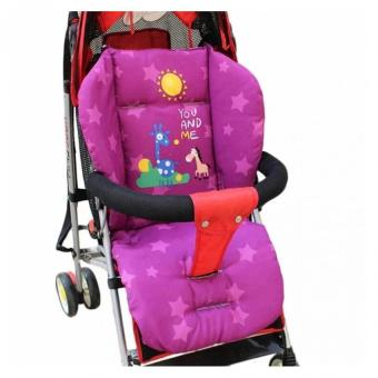 Baby Stroller Cushion Pram Seat Pad Waterproof(Purple) - intl
