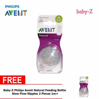 Baby-Z Philips Avent Natural Feeding Bottle Slow Flow Nipples 2Pieces 1m+ Buy One Take One Price Philippines