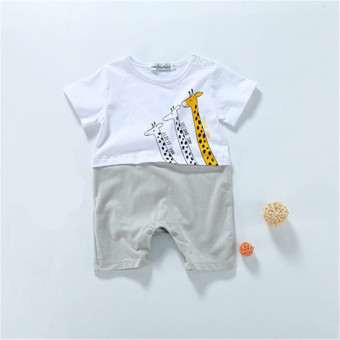 Baobao baby summer new onesie