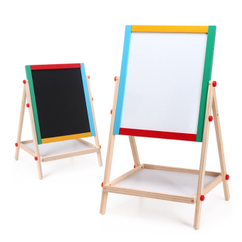 Baobao home double-sided magnetic support-writing board small blackboard
