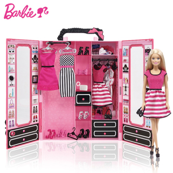 Barbie big gift box portable gift box children's Barbie doll suit