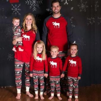 Blackhorse Family Christmas Pajamas Set Baby Kids Sleepwear - intl