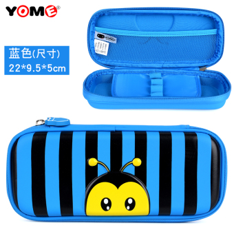 Boy's female young student's bumper pencil box stationery box