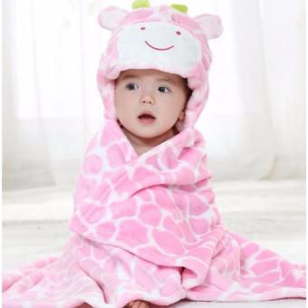 Child Of Mine Hooded Soft Plush Baby Blanket, Pink Cow Price Philippines