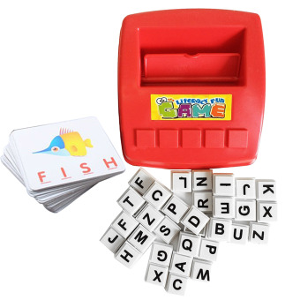 Children Kids Learning English Alphabet Word Puzzle Games ColorFlash Card Seeing Spelling Early Education Toys for Over 3 YearsOld Kids
