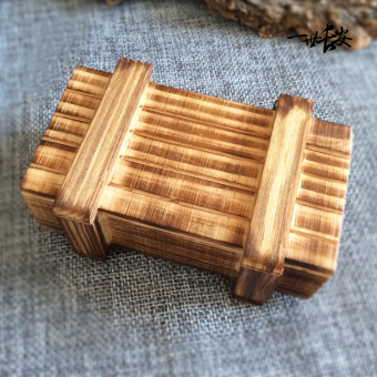 Chinese-style fun gift box small wooden puzzle burr puzzle switch box