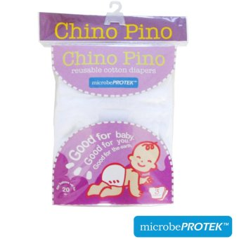 Chino Pino Cloth Diaper with antimicrobial microbePROTEK(TM), pack of3 Price Philippines