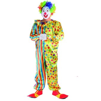 Clown Cosplay Halloween Costumes for Adult Men Jumpsuit Size 170-185CM - intl