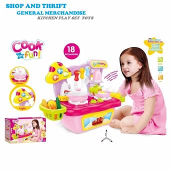 Cooking Role Pretend Play Toy Cooker Set Pink and Plastic Cutting Fruits and Vegetables Set with Dish Play Food Set for Pretend Play