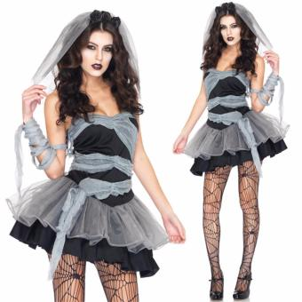 Cosplay Ghost Zombie Bride Halloween Costume for Women(XL-Size) - intl
