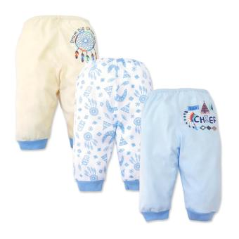 Cotton Stuff - 3-piece Pajama Pants (Little Chief) 3-6 Months