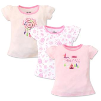 Cotton Stuff - 3-piece Short Sleeve Fitted Blouse (Little Princess)6-9 Months