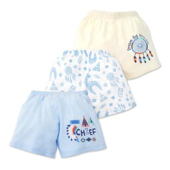 Cotton Stuff - 3-piece Shorts (Little Chief) 3-6 Months