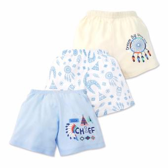 Cotton Stuff - 3-piece Shorts (Little Chief) 9-12 Months