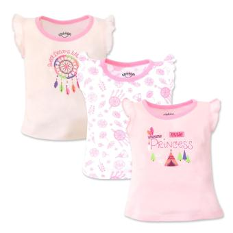 Cotton Stuff - 3-piece Sleeveless Ruffle Blouse (Little Princess)3-6 Months