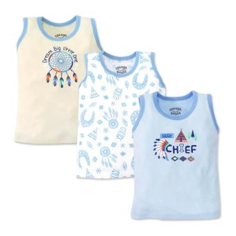 Cotton Stuff - 3-piece Tank (Little Chief) 6-9 Months