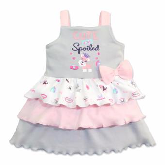 Cotton Stuff - Sleeveless Layered Dress - (Me & My Dog) 3-6 Months Price Philippines