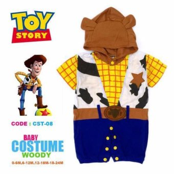 Cowboy Baby Romper Costume Woody Design (2-3 Years)