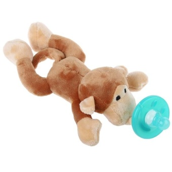 Cute Infant Animal Silicone Wubbanub Cuddly Soft Plush Toy withHigh Quality Food-grade Silicone Pacifier for Infant Baby - intl