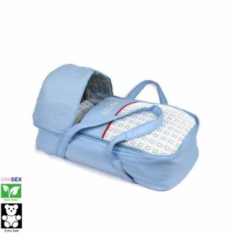 Cutie Suresafe Transportable Baby Basket with Canopy (Blue)