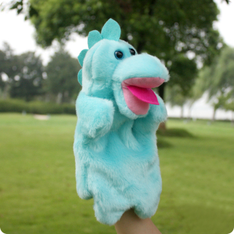 Dinosaur plush animal gloves doll hand puppet