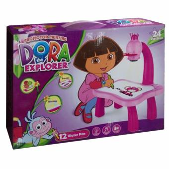 Dora The Explorer Educational Development Projector Drawing Painting Toy Fun Learning Desk Set 24 Pattern for Tracing and Creating Pictures