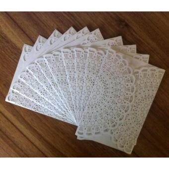 Elegant Laser Cut Floral Hollow Wedding Invitation Card for WeddingEngagement Bridal Shower Set of 10