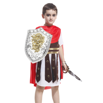 EOZY Children's Halloween Costume Clothes Ancient Rome Warrior Costumes Boys Halloween Cosplay Clothing Set (Red) - Intl Price Philippines