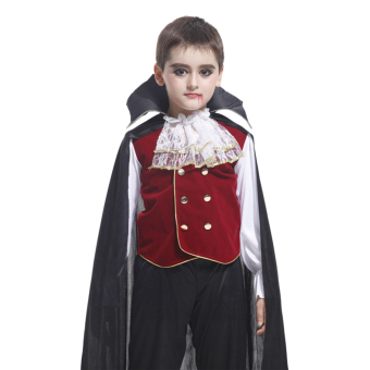 EOZY Children's Halloween Costume Lace Cosplay Clothes Set For Boys And Girls -XL (Black) - Intl Price Philippines