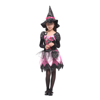 EOZY Girls Halloween Clothes Shiny Witch Costumes Halloween RolePlaying Cosplay Dress -M (Black) - Intl Price Philippines