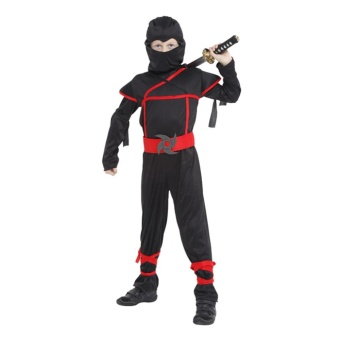 EOZY Halloween Kids Boys Stealth Ninja Costumes Halloween Party Children Assassin Cosplay Costume Stage Performance Apparel Size XL - intl