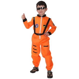 EOZY Kids Astronaut Costume Child Profession Cosplay Outfit Boys Fantasia Halloween Fancy Dress -M (Orange) Price Philippines