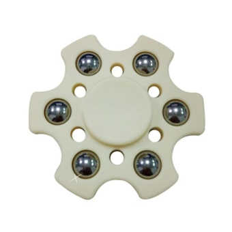 Fang Fang New R188 Bearing Fingertip Gyro Boys Girls Hexagonal HandSpinner Fidget EDC Toys - Beige - intl Price Philippines
