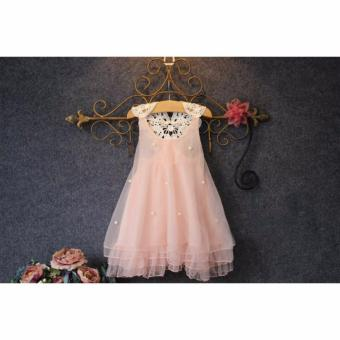 Fashion kids clothes Flower Girl Spring Summer Princess Dress Kid Baby Formal Party Wedding Lace Tulle Tutu Dresses (2-3T) - intl