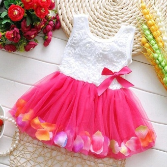 Fashion Lovely Toddler Baby Kid Girls Princess Party Tutu Lace BowFlower Dresses Skirt Clothes - intl Price Philippines
