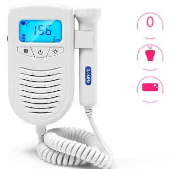 Fetal heart monitor home pregnant women without radiation Doppler monitoring of fetal movement measuring fetal stethoscope - intl